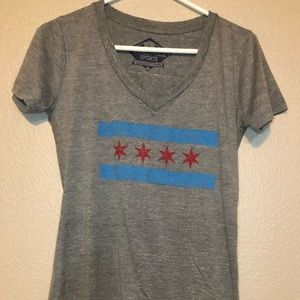 Tops - Wrigleyville Sports Collection Cubs V-neck tee
